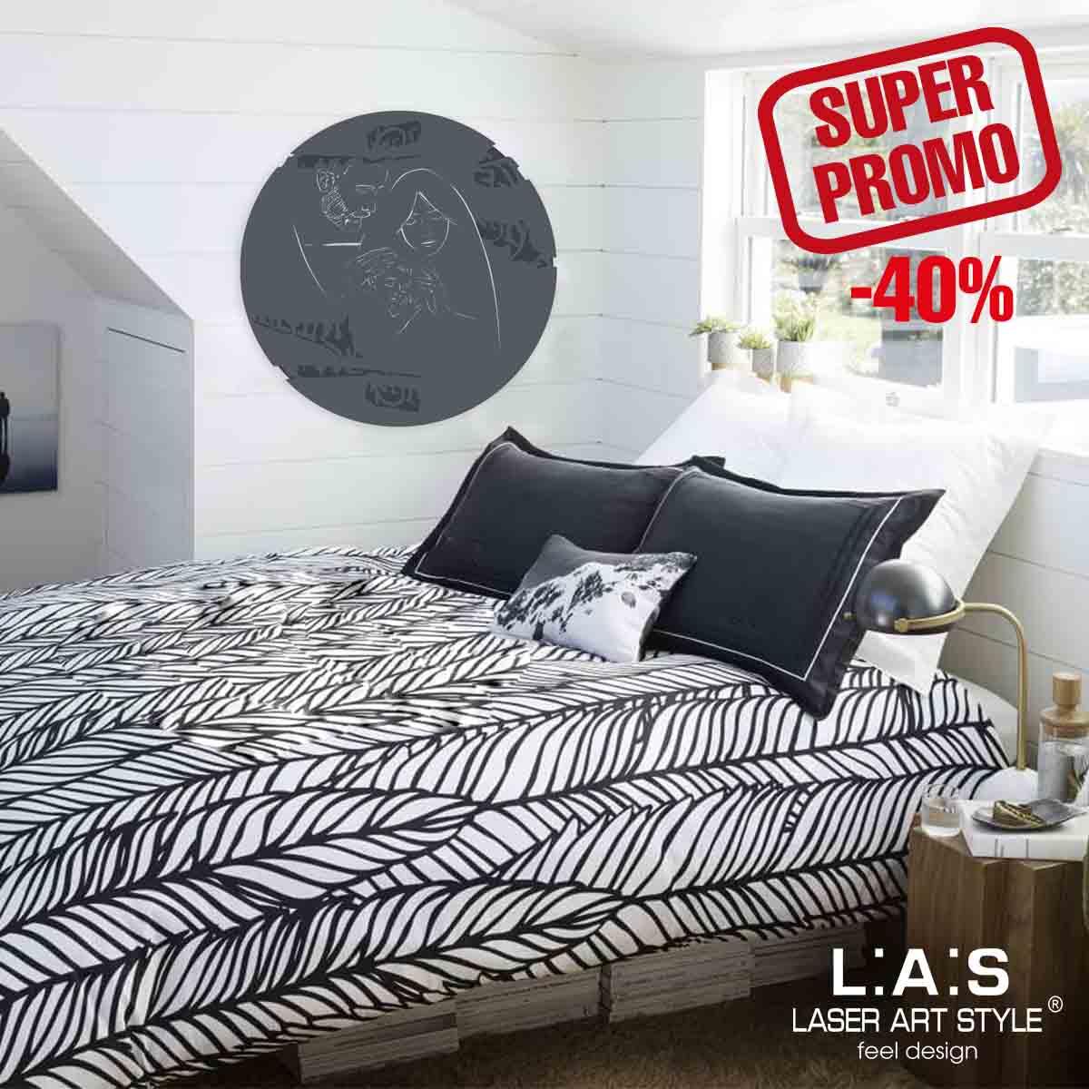 L:A:S - Laser Art Style - SACRA FAMIGLIA STILIZZATA SI-275XL ANTRACITE