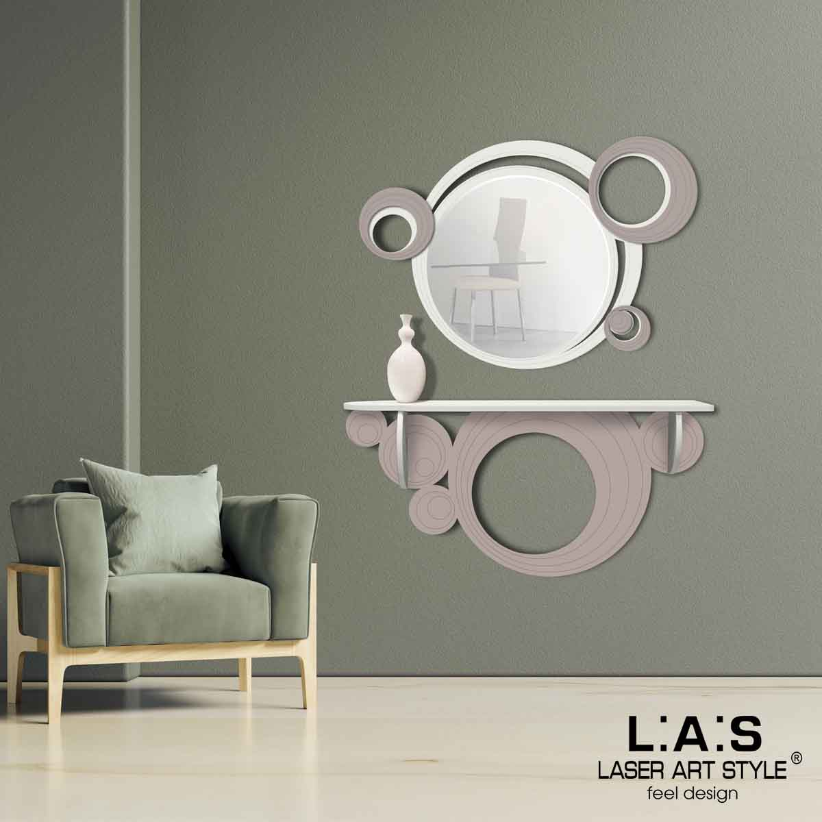 L:A:S - Laser Art Style - CONSOLLE INGRESSO DESIGN MODERNO – SI-279 PANNA-TORTORA