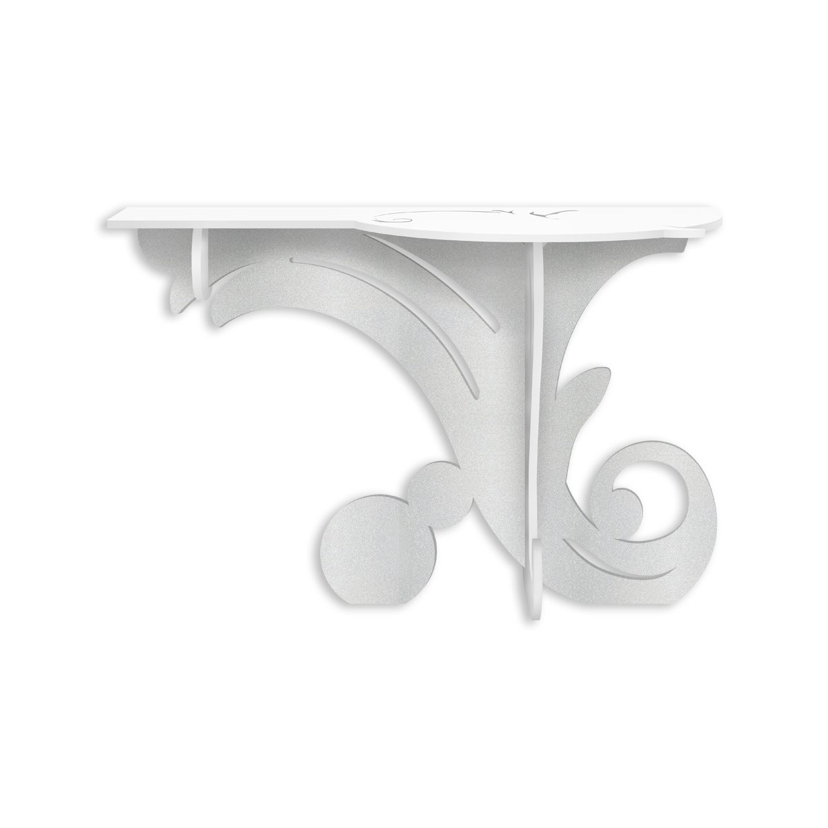L:A:S - Laser Art Style - CONSOLLE INGRESSO DESIGN MODERNO – SI-286 BIANCO-ARGENTO