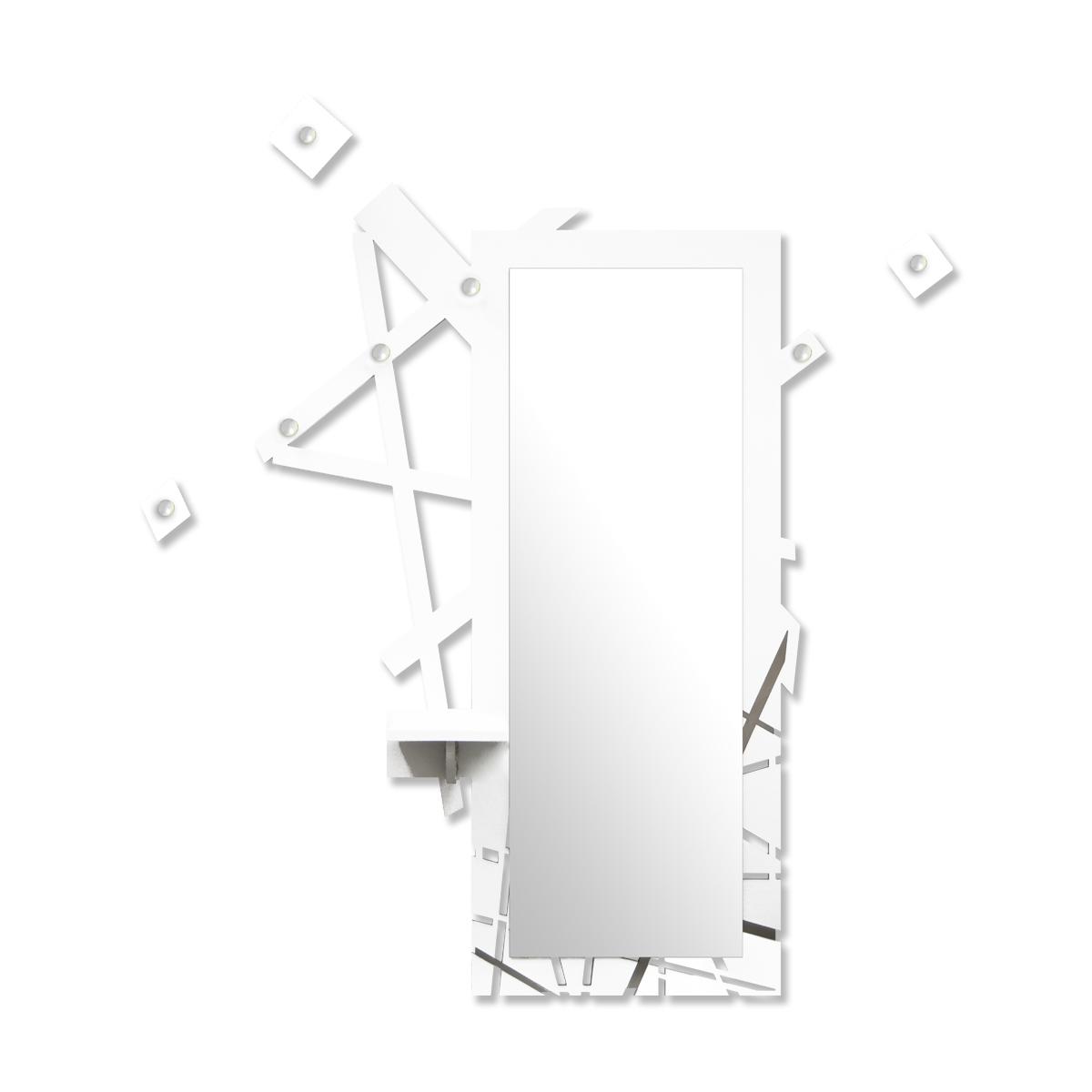 L:A:S - Laser Art Style - SPECCHIERA-MENSOLA-APPENDIABITI-DESIGN MINIMAL – SI-293 BIANCO-BIANCO