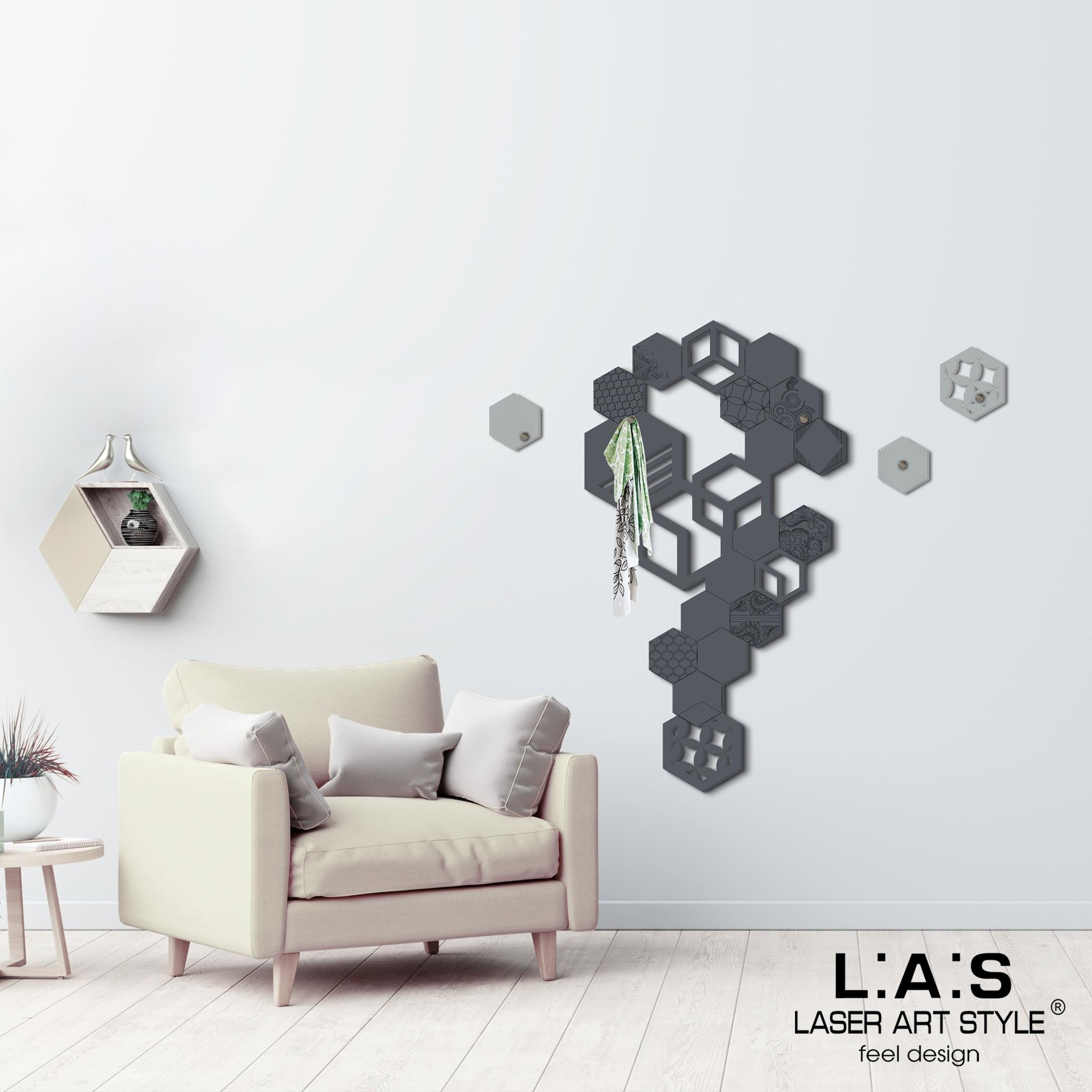 L:A:S - Laser Art Style - APPENDIABITI-DESIGN EASAGONI- SI-339 ANTRACITE-CEMENTO
