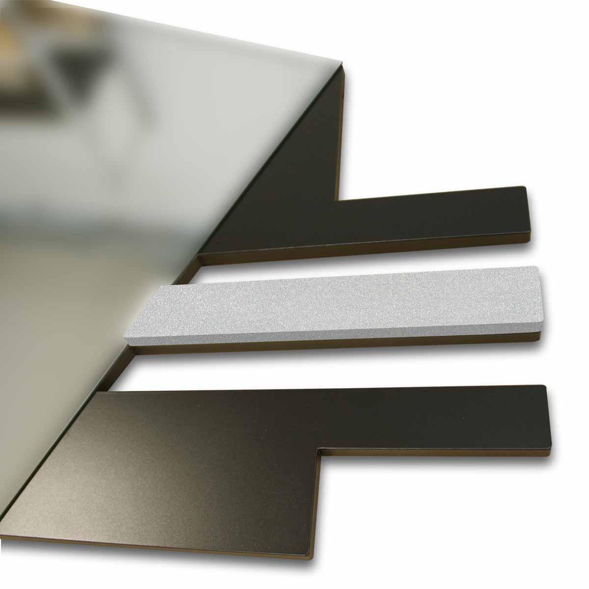 L:A:S - Laser Art Style - SPECCHIERA DESIGN MINIMAL- SI-359 NERO-ARGENTO