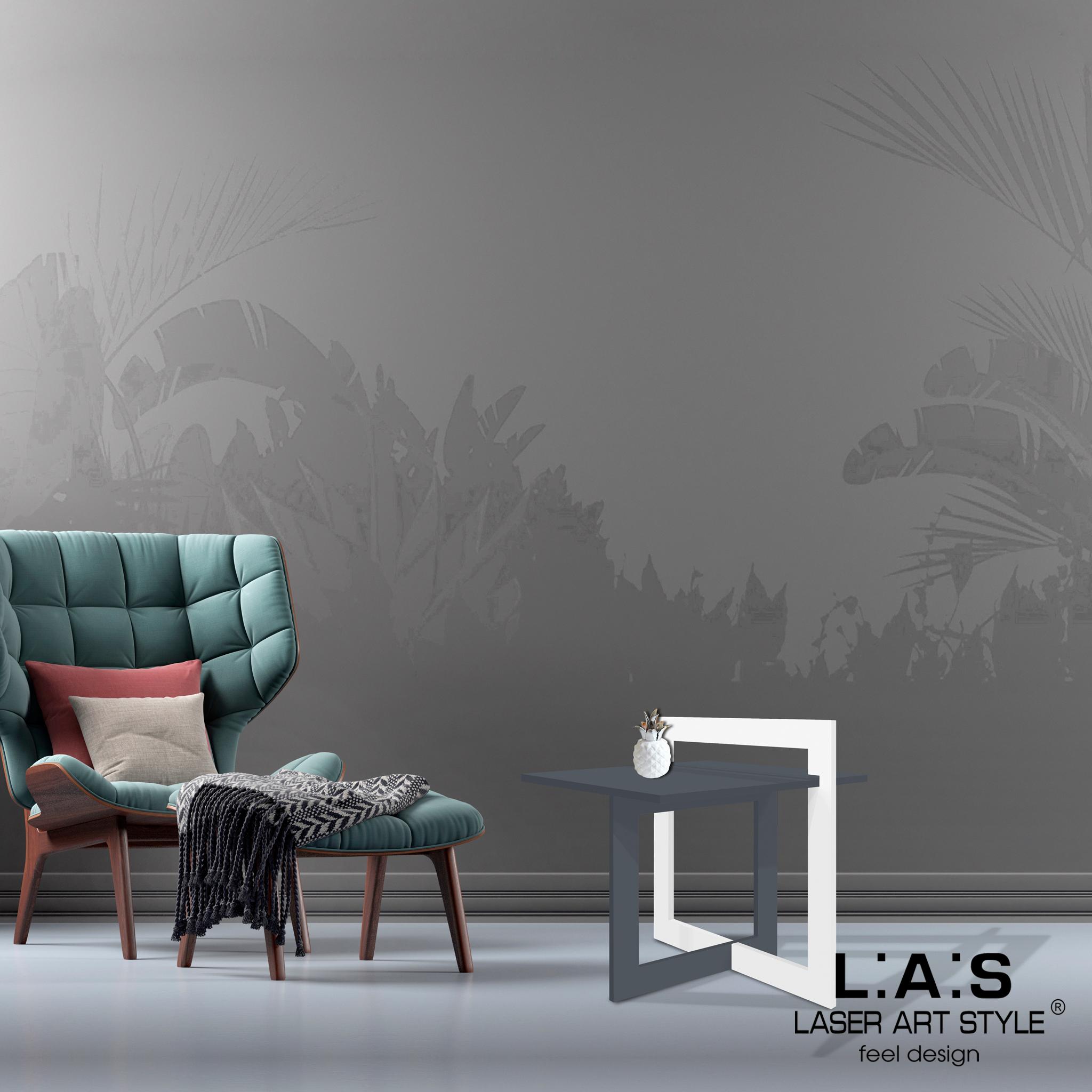 L:A:S - Laser Art Style - TAVOLINO DA CAFFE' DESIGN MINIMAL SI-506 ANTRACITE -BIANCO