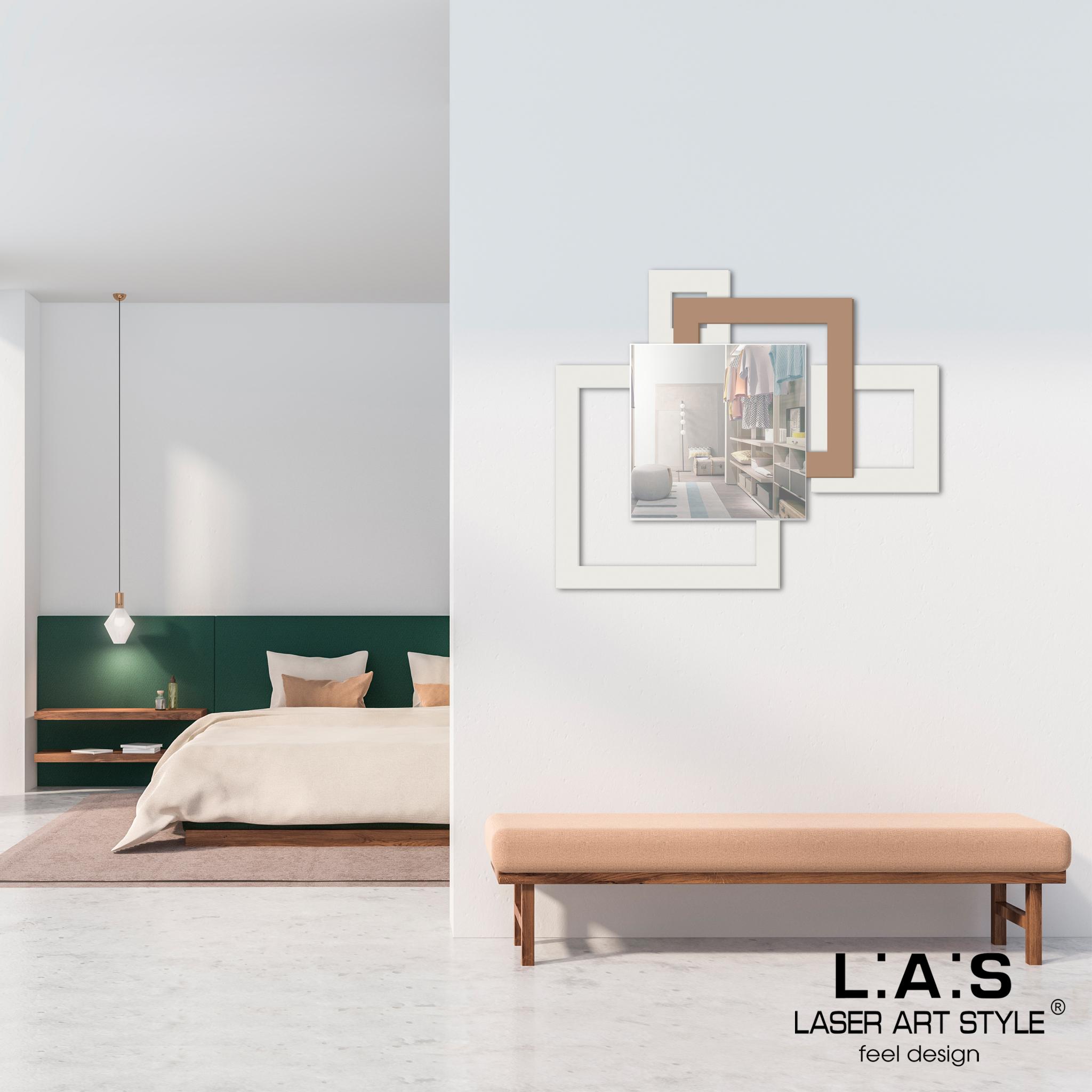 L:A:S - Laser Art Style - SPECCHIERA DESIGN MINIMAL – SI-507 PANNA – NOCCIOLA