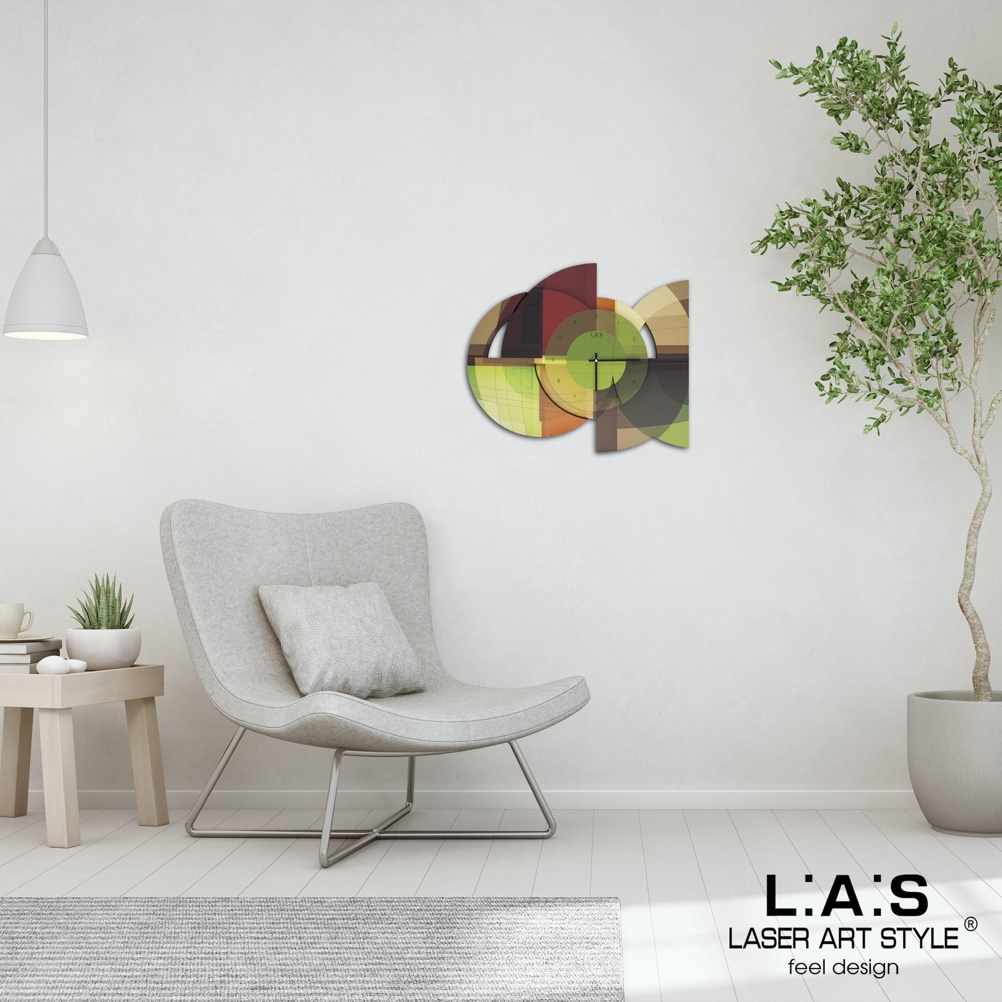 L:A:S - Laser Art Style - OROLOGIO DA PARETE DESIGN MODERNO GEOMETRICO – SI-539-L VERDE