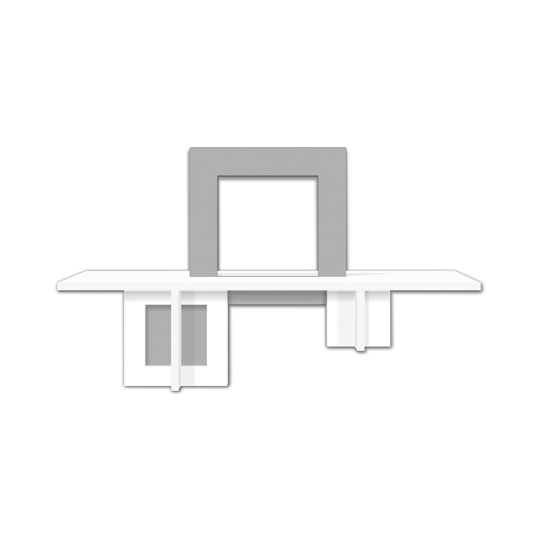 L:A:S - Laser Art Style - CONSOLLE INGRESSO DESIGN MINIMAL – SI-523 BIANCO – CEMENTO