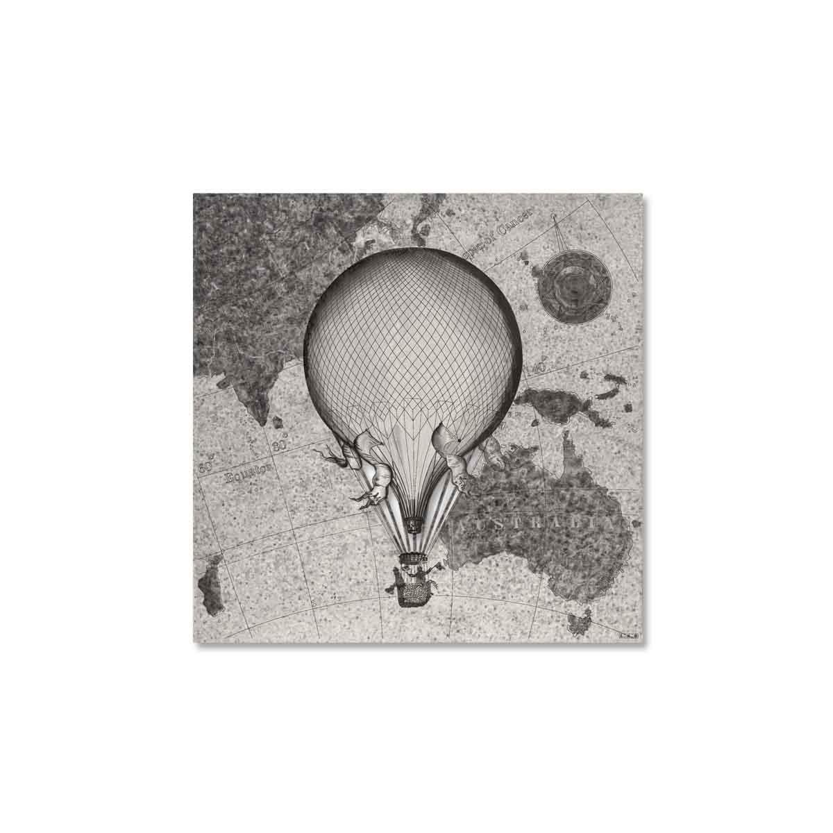 L:A:S - Laser Art Style - QUADRO – SCULTURA DA PARETE MONGOLFIERA- Q-029 DECORO NERO